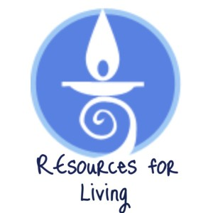The CLFUU Chalice Logo with the words REsources for living