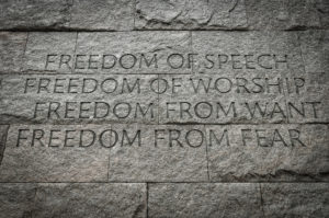 Inscription from Franklin Roosevelt Memorial