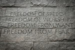 Inscription from Franklin Roosevelt Memorial